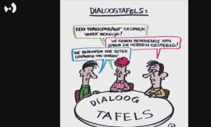 cartoon dialoogtafel